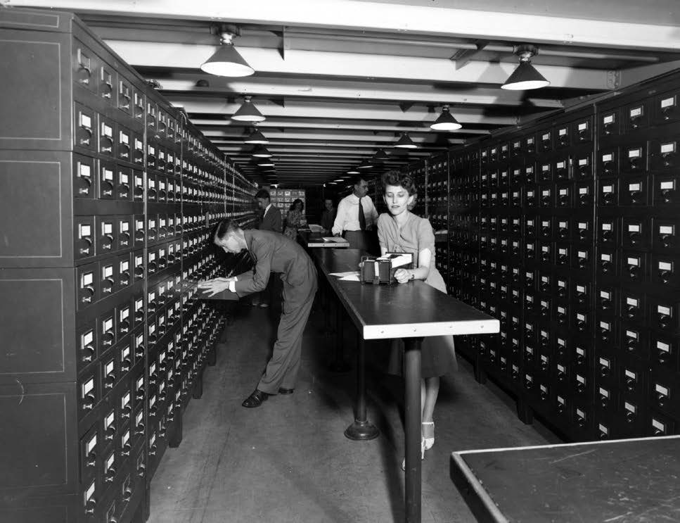 The copyright card catalog room circa 1940's.
